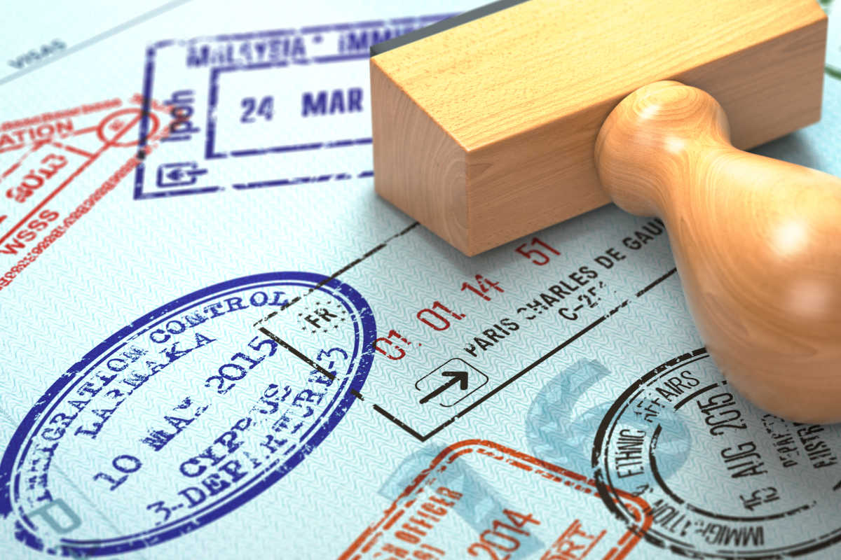 Passport With Visa Stamps Travel Or Tourism